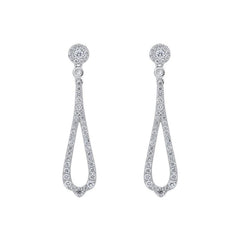 18ct White Gold 0.45ct Diamond Open Pear Drop Earrings