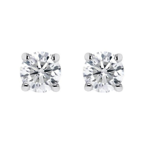 18ct White Gold 0.48ct Diamond Solitaire Stud Earrings