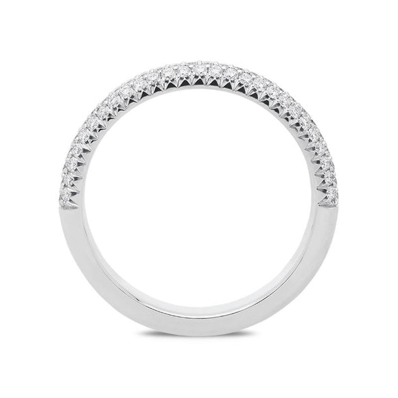 18ct White Gold 0.52ct Half Eternity Ring BLC-094