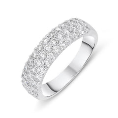 18ct White Gold 1.00ct Diamond Eternity Dress Ring