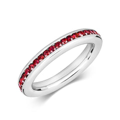 18ct White Gold 1.15ct Ruby Eternity Ring