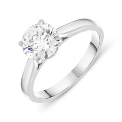 18ct White Gold 1.50ct Diamond Brilliant Cut Solitaire Ring