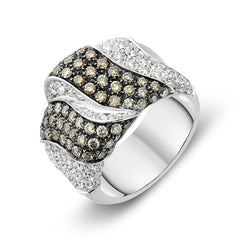 18ct White Gold 2.15ct Diamond Pave Statement Ring