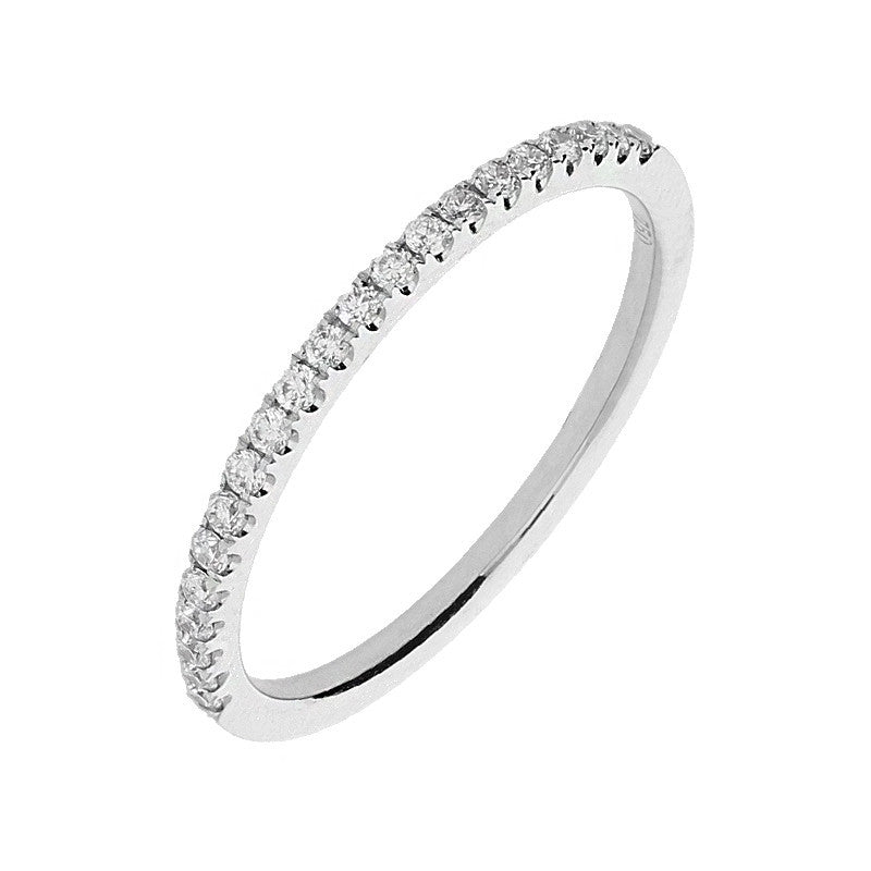 18ct White Gold Brilliant Cut 0.18 Carat Diamond Half Eternity Ring