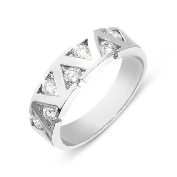 18ct White Gold Brilliant Cut 0.63ct Diamond Ring PJW-148