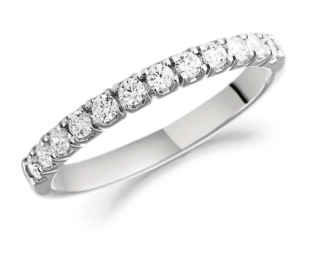 18ct White Gold Brilliant Cut Diamond Half Eternity Ring