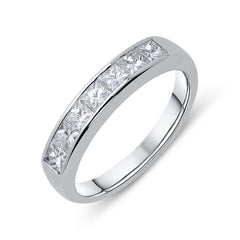 18ct White Gold 0.84ct Diamond Channel Set Half Eternity Ring