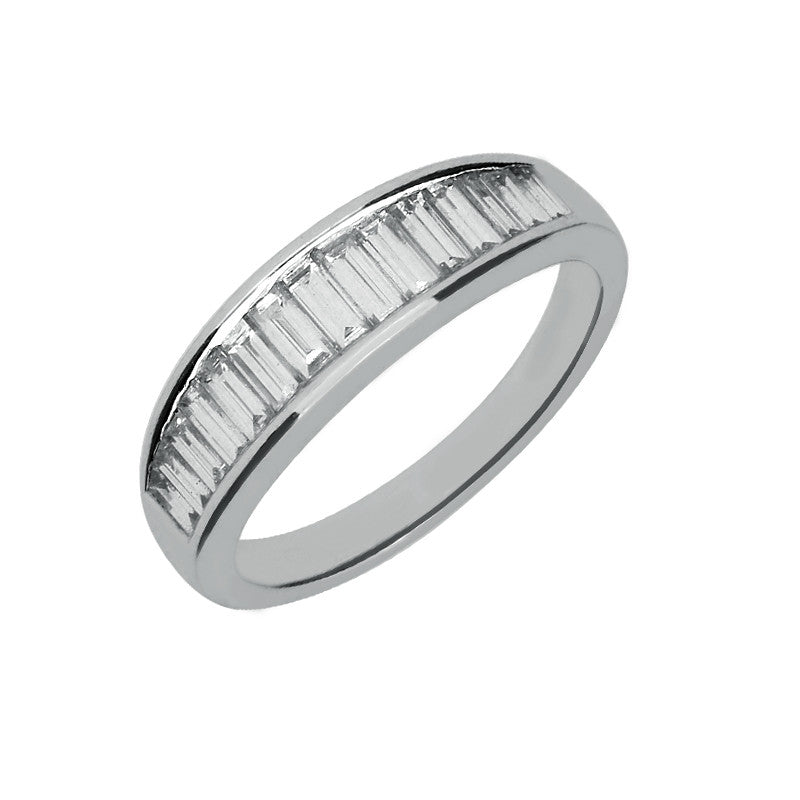 18ct White Gold Tapered 0.88 Carat Diamond Eternity Ring