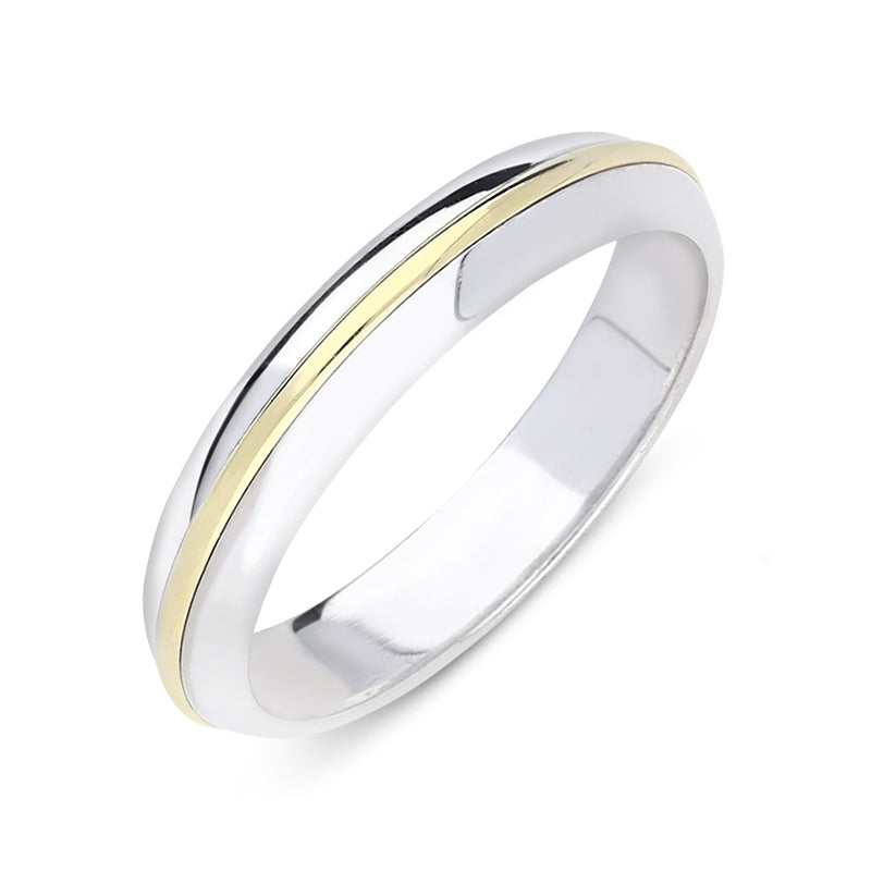 18ct White and Yellow Gold Wedding Ring