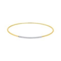 18ct Yellow Gold 0.18ct Diamond Bangle