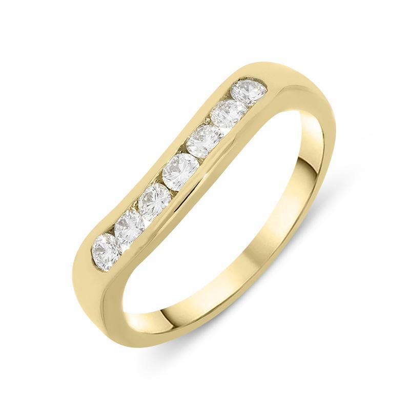18ct Yellow Gold 0.35ct Diamond Seven Stone Channel Set Ring