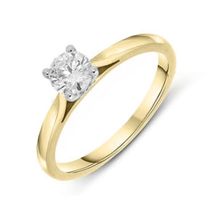 18ct Yellow Gold 0.40ct Diamond Brilliant Cut Solitaire Ring