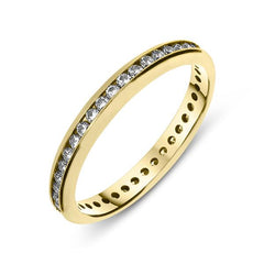 18ct Yellow Gold 0.43ct Diamond Channel Set Eternity Ring