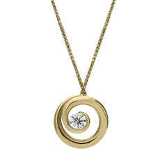 18ct Yellow Gold 0.48ct Diamond Swirl Necklace
