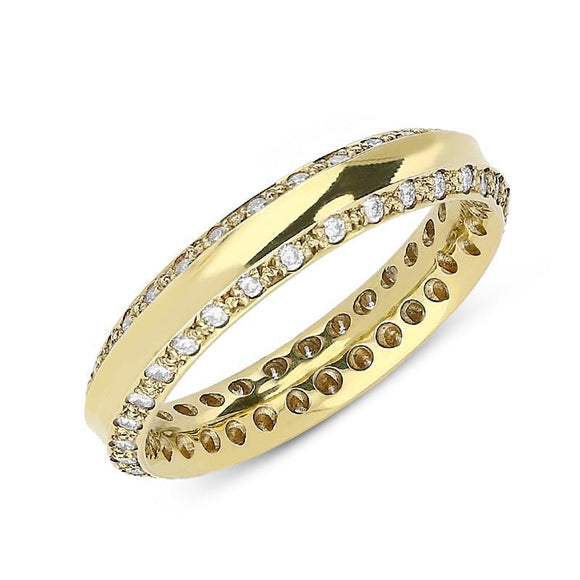 18ct Yellow Gold 0.51ct Diamond 4mm Wedding Ring. CGN-304.
