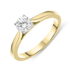 18ct Yellow Gold 0.53ct Diamond Solitaire Ring
