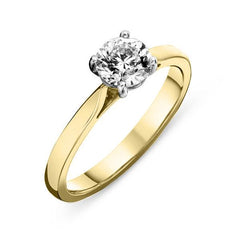 18ct Yellow Gold 1.21ct Diamond Brilliant Cut Solitaire Ring