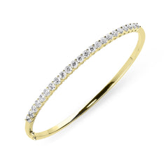 18ct Yellow Gold 2.02ct Diamond Hinged Bangle
