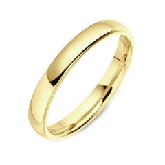 18ct Yellow Gold 3mm Medium Weight Court Shape Wedding Ring
