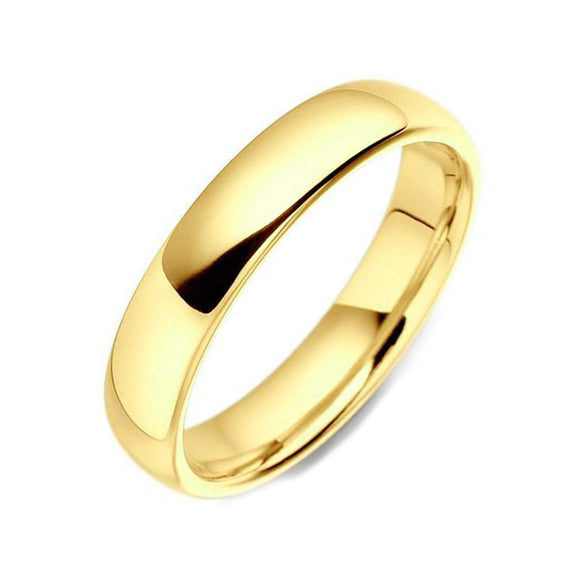 18ct Yellow Gold 5mm Light Court Shape Wedding Ring, CGN-135.