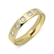 18ct Yellow Gold Diamond 4mm Wedding Ring. CGN-326.