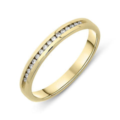 18ct Yellow Gold Diamond Channel Set Half Eternity Ring