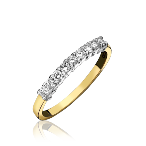 18ct Yellow Gold Nine Stone 0.26 Carat Diamond Eternity Ring