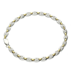 18ct Yellow and White Gold 1.03ct Diamond Bracelet