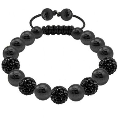 Tresor Paris Bracelet 8mm Black Crystal S