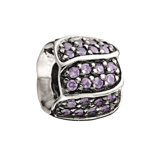 Chamilia Charm Jewelled Petals Purple D
