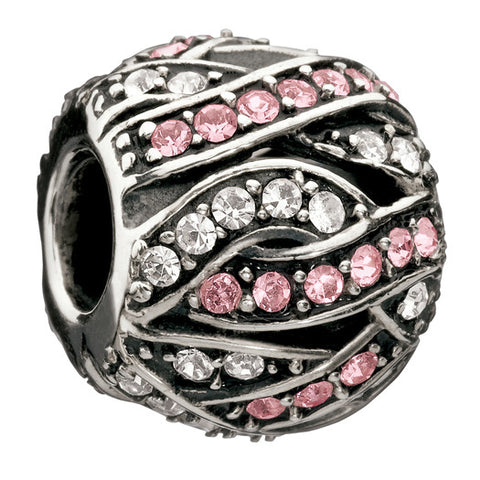 Chamilia Charm Entwined Jewels Clear & Pink D