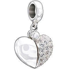Chamilia Charm Secret Message Heart