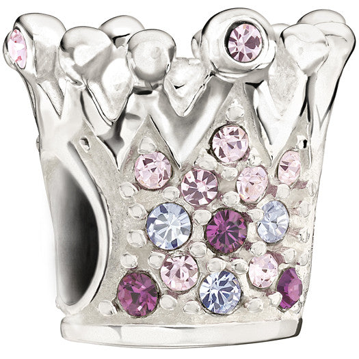 Chamilia Charm Crystal Crown Purple