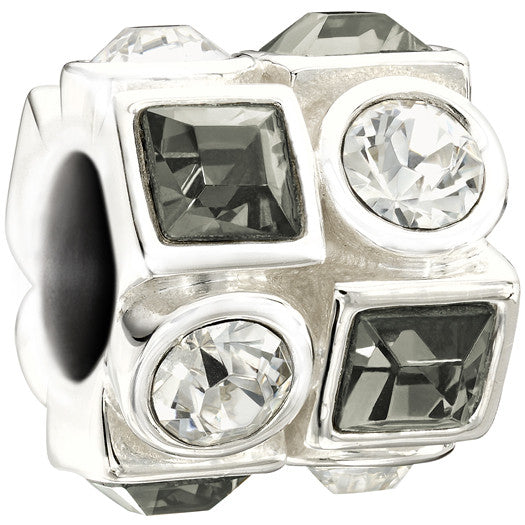 Chamilia Charm Circle & Square Black & White