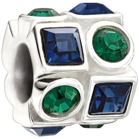 Chamilia Charm Circle & Square Green & Blue