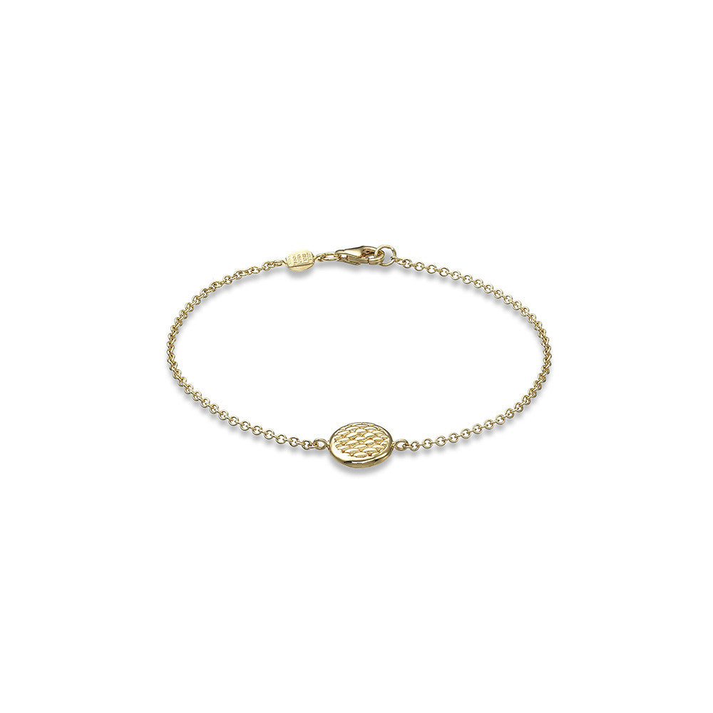 Fope Bracelet Lovely Daisy 18ct Yellow Gold