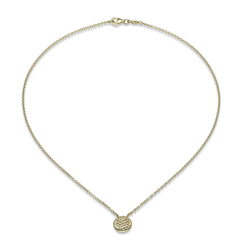 Fope Necklace Lovely Daisy 18ct Yellow Gold