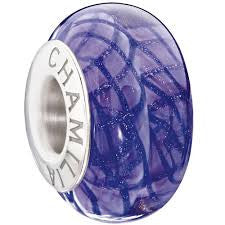Chamilia Charm Purple Waves Bead