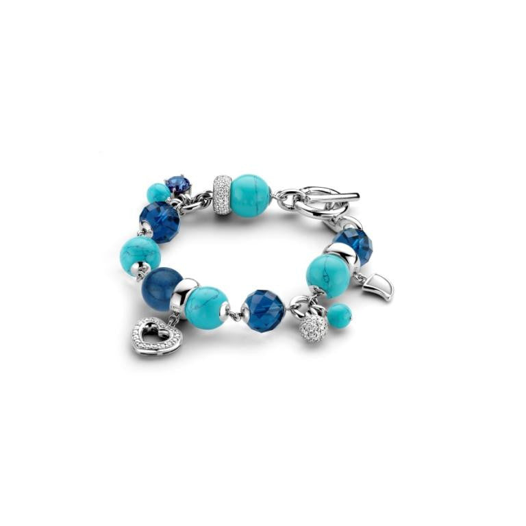 Ti Sento Bracelet Silver Beads And Charms