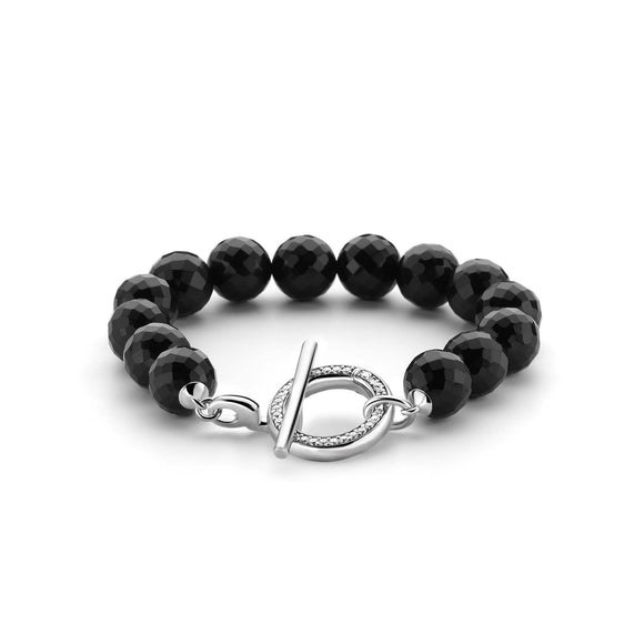 Ti Sento Bracelet Silver And Onyx 2430OZ