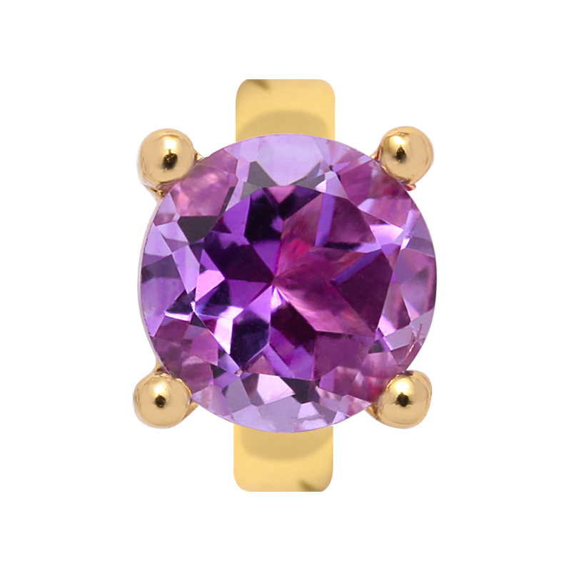 Endless Jewellery Charm Amethyst And Gold