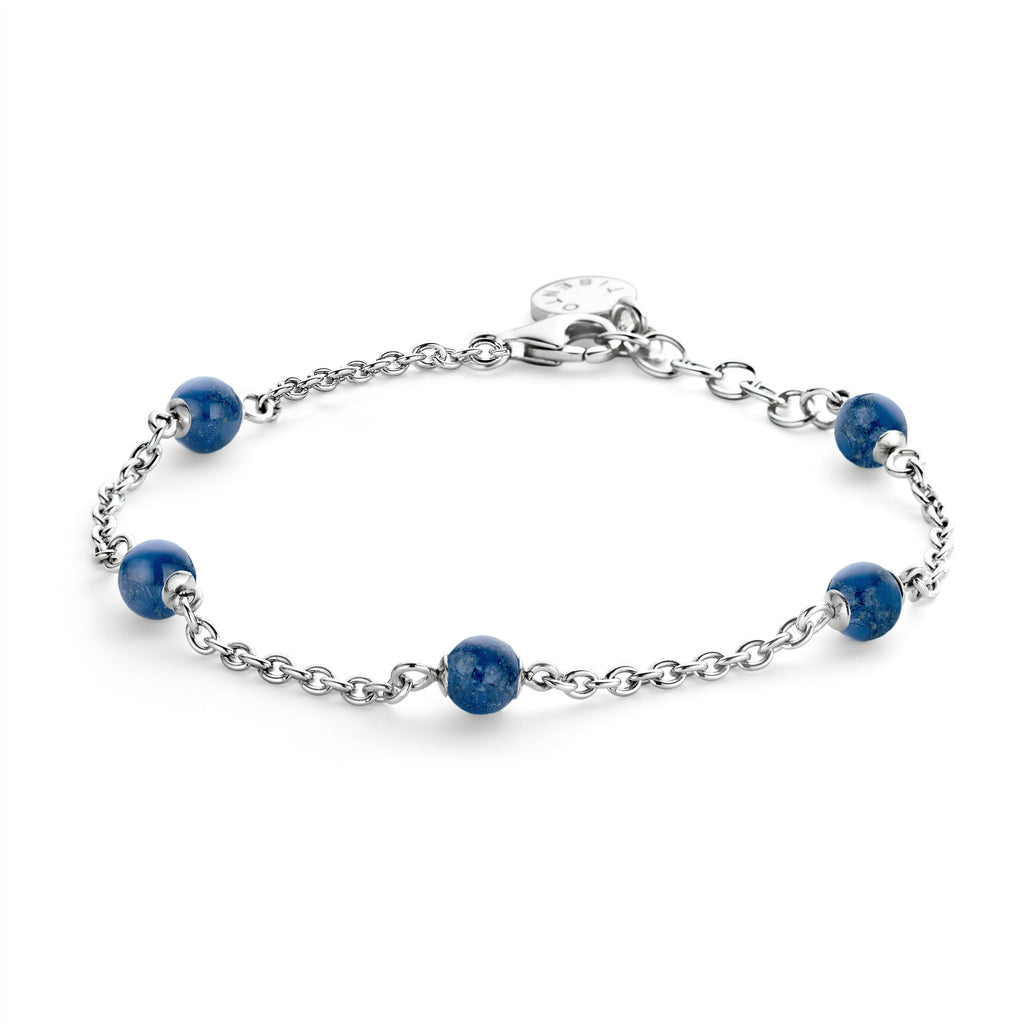 Ti Sento Bracelet Silver And Blue 5 Bead