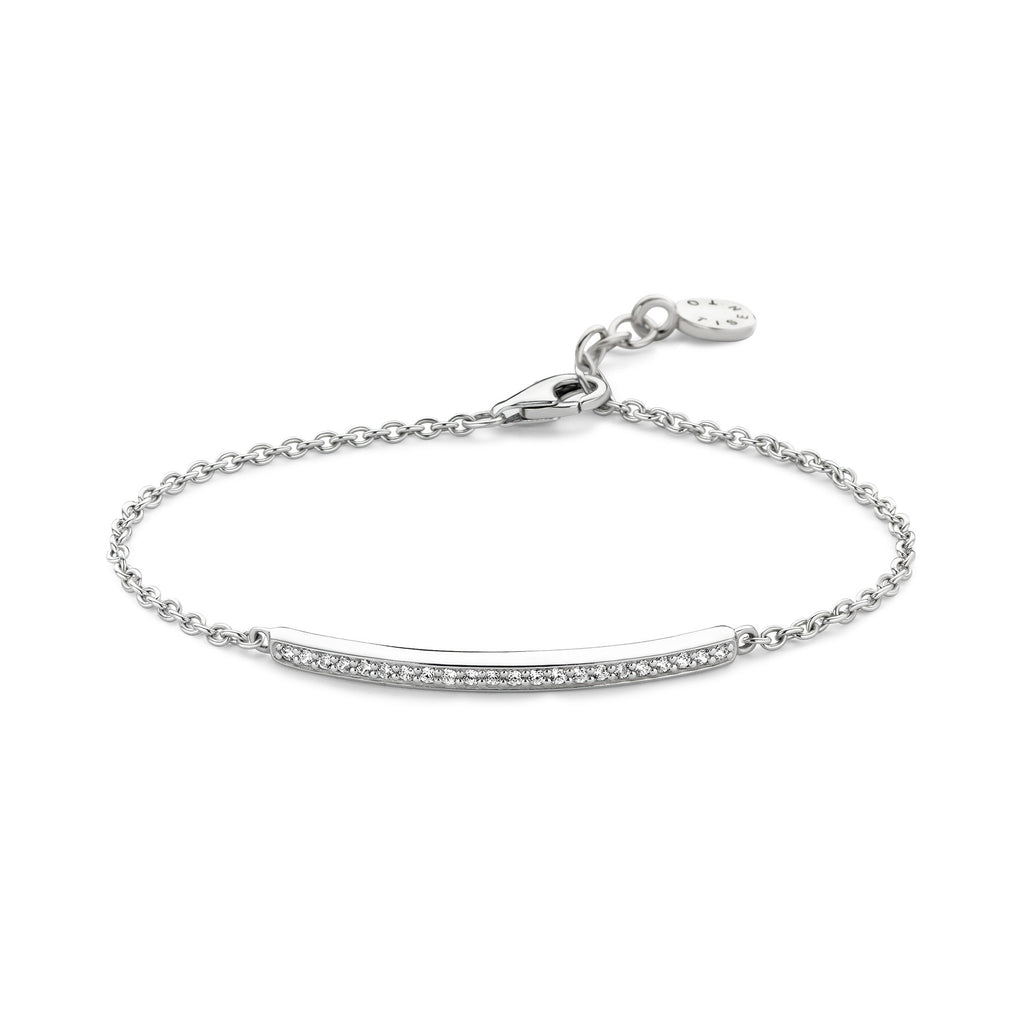 Ti Sento Bracelet Silver And White Cubic Zirconia Bar