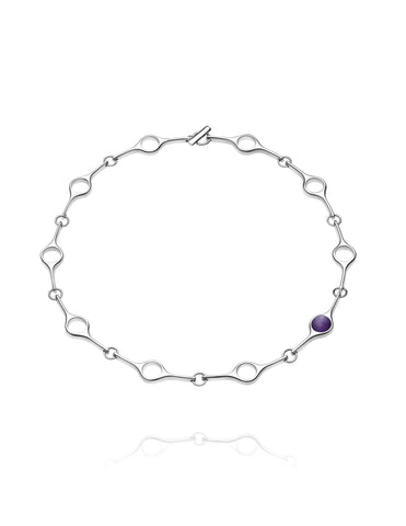 Georg Jensen Necklace Sphere Collection Amethyst