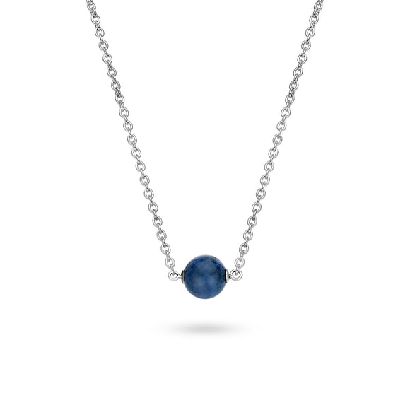 Ti Sento Necklace Silver And Blue Catseye 3760BV/42