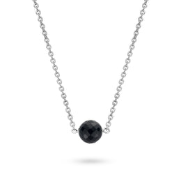 Ti Sento Necklace Silver And Faceted Black Cubic Zirconia 3760OOZ