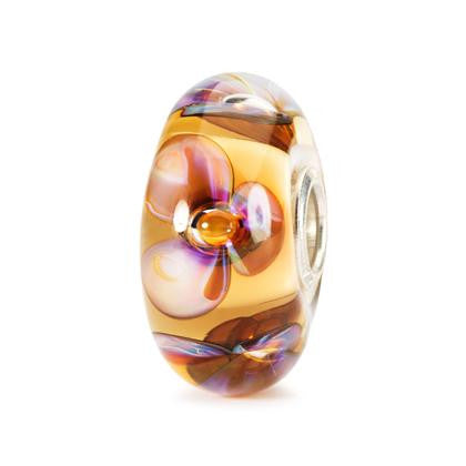Trollbeads Bead Glass Amber Violets