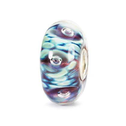Trollbeads Bead moonlight Bubbles Glass