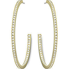Swarovski Earrings Vi Hoop Pierced Earrings Gold Plated