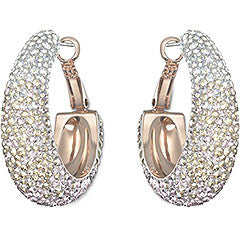 Swarovski Earrings Abstract Hoop